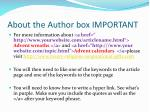about the author box important