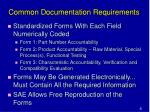 common documentation requirements