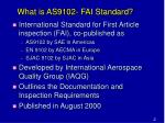what is as9102 fai standard