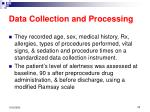 data collection and processing20