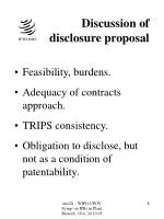 discussion of disclosure proposal