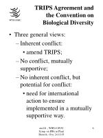 trips agreement and the convention on biological diversity