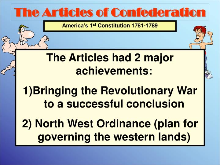 from 1781 to 1789 the articles Articles of confed ap us history dbq essay 1 from 1781 to 1787 the articles of confederation provided the united states with an effective government using the documents and your knowledge of the period, evaluate this statement.