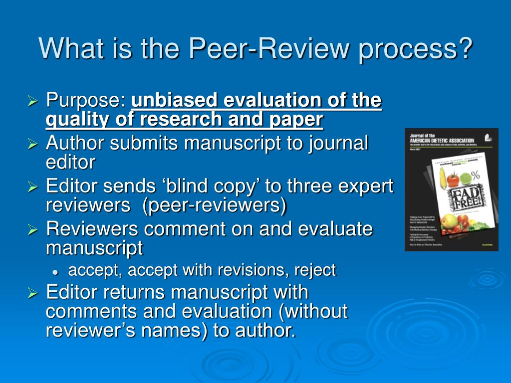 What is the Peer-Review process?