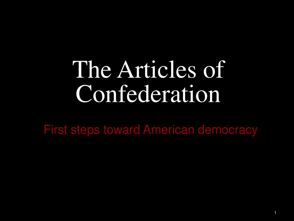 the articles of confederation l.