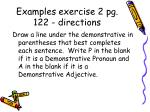examples exercise 2 pg 122 directions