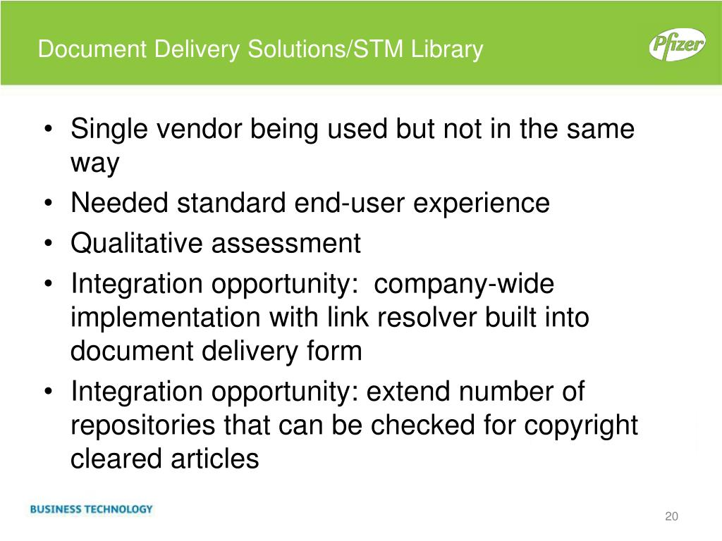 Document Delivery Solutions/STM Library