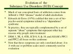 evolution of the substance use disorders sud concept