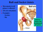 ball and socket joints