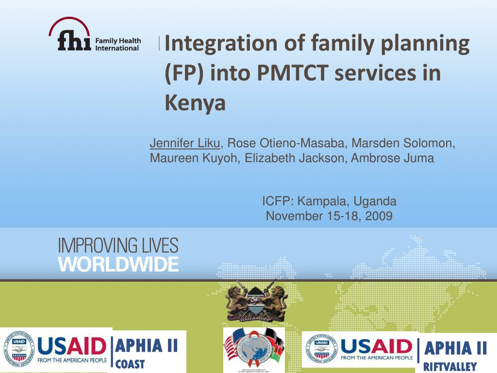 integration of family planning fp into pmtct services in kenya l.