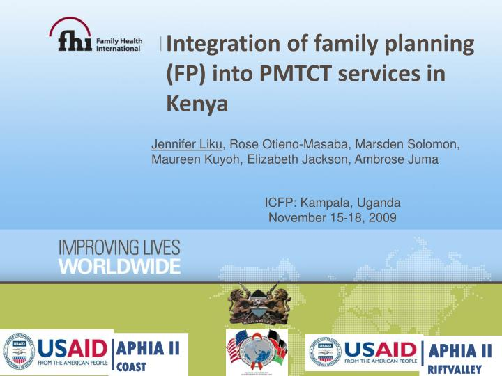 integration of family planning fp into pmtct services in kenya n.