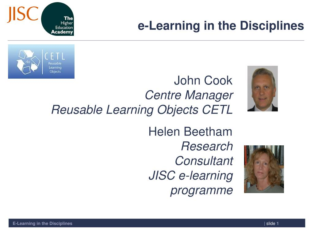 e learning in the disciplines l.