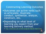 constructing learning outcomes