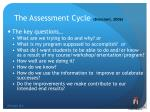 the assessment cycle bresciani 2006
