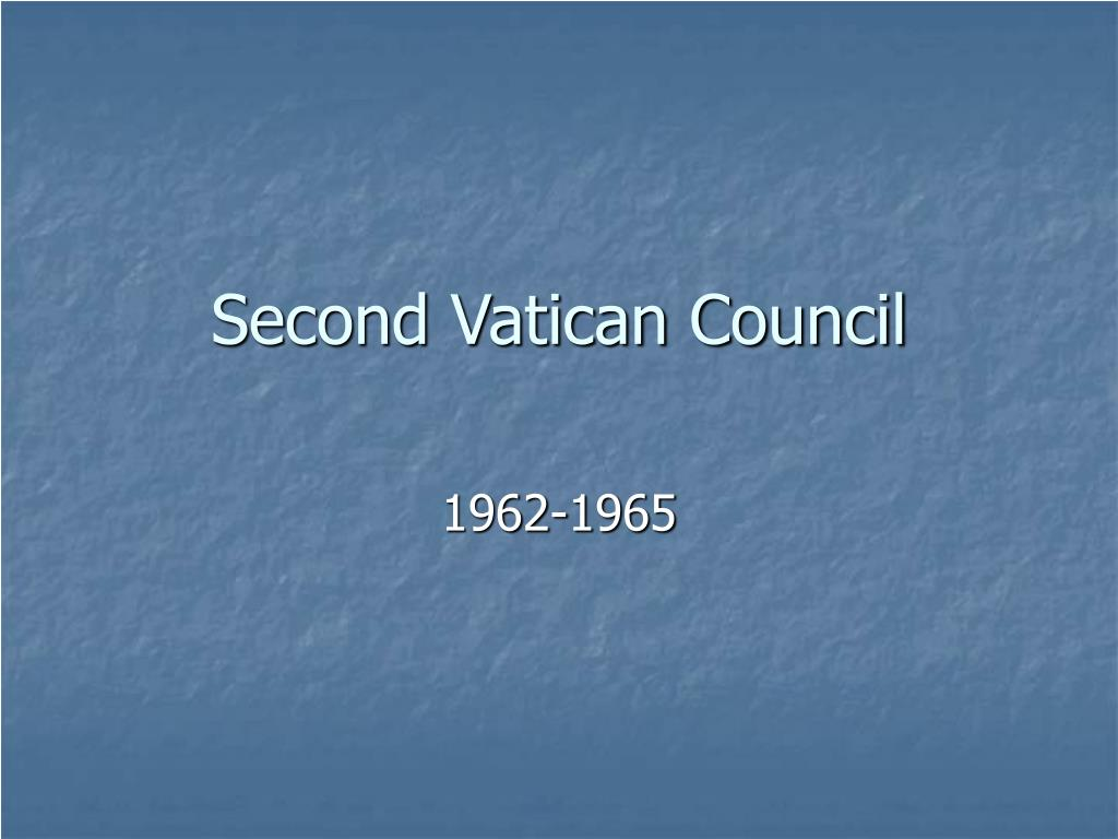 second vatican council l.
