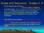 scope and sequence grades 4 5