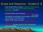 scope and sequence grades 6 8