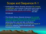 scope and sequence k 1