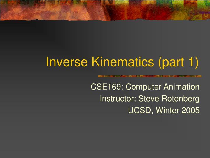 inverse kinematics part 1 n.