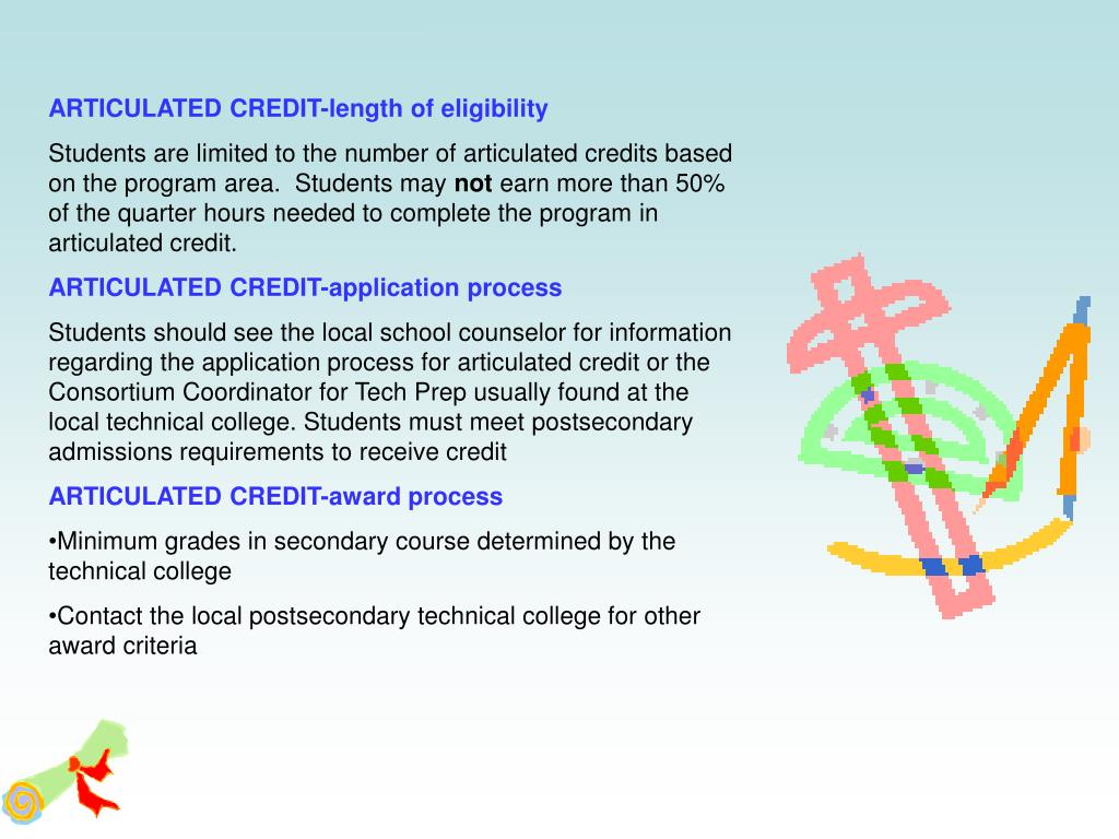 ARTICULATED CREDIT-length of eligibility