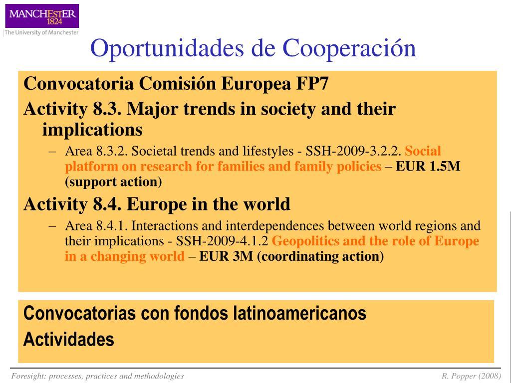 Oportunidades de Cooperación