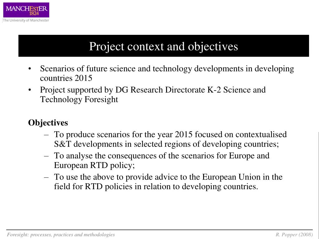 Project context and objectives