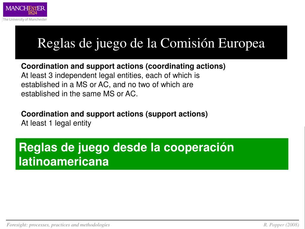 Reglas de juego de la Comisión Europea
