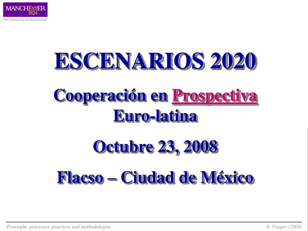ESCENARIOS 2020