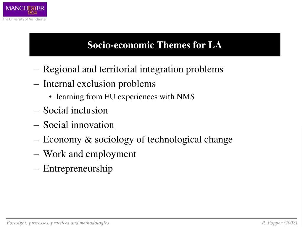Socio-economic Themes for LA