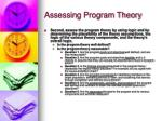 assessing program theory17