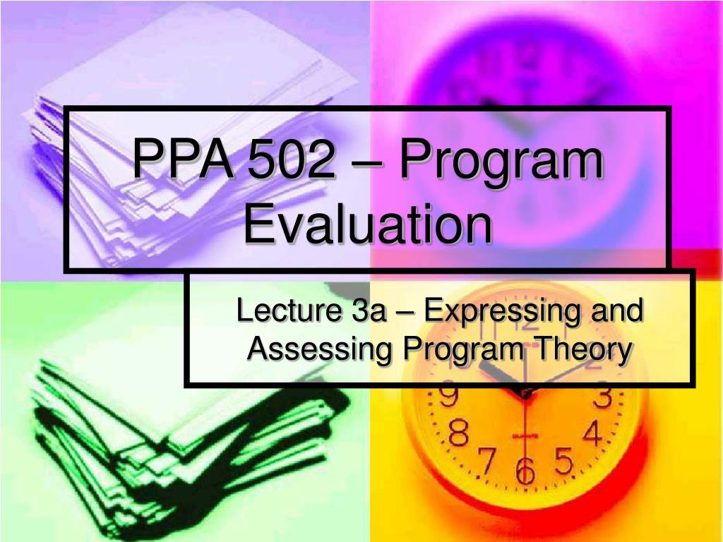 ppa 502 program evaluation l.