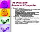 the evaluability assessment perspective6