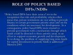 role of policy based dfis ndbs