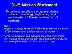 due mission statement