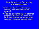 relationship and partnership recommendations