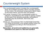 counterweight system