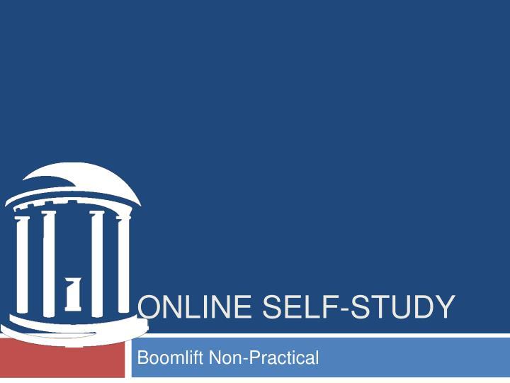 online self study n.