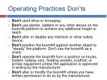 operating practices don ts