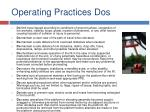 operating practices dos