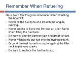 remember when refueling