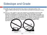sideslope and grade
