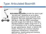 type articulated boomlift