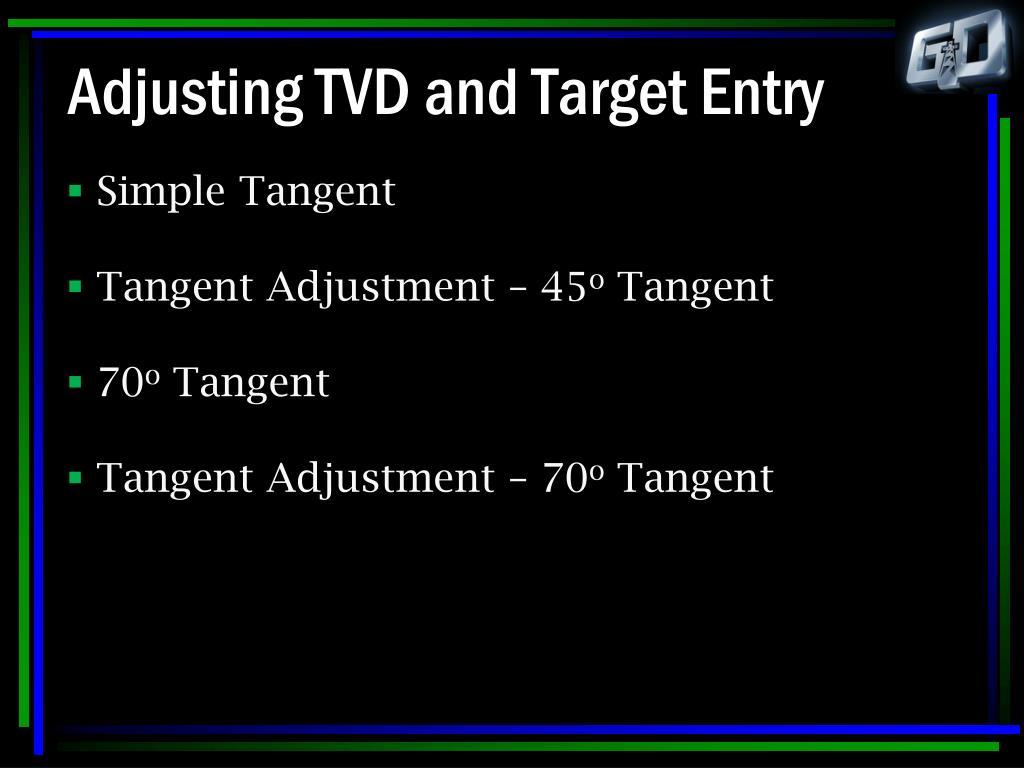 Adjusting TVD and Target Entry
