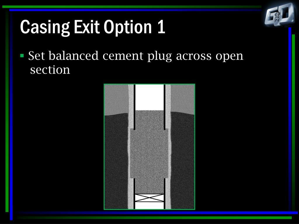 Casing Exit Option 1