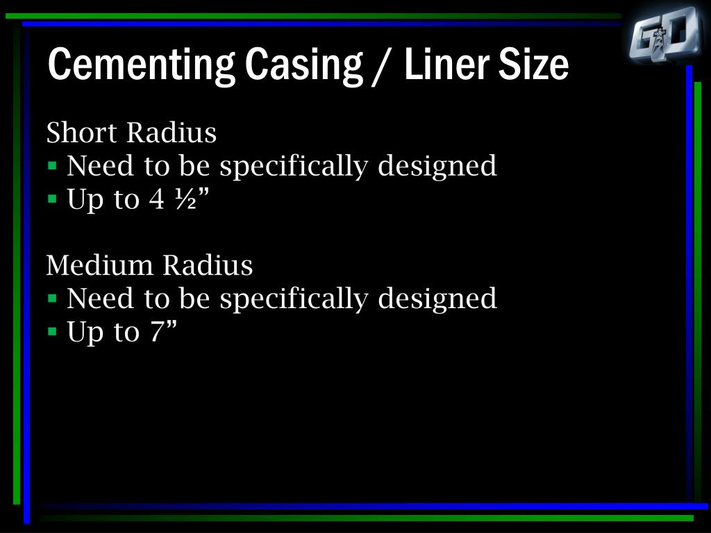 Cementing Casing / Liner Size