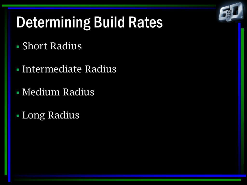 Determining Build Rates