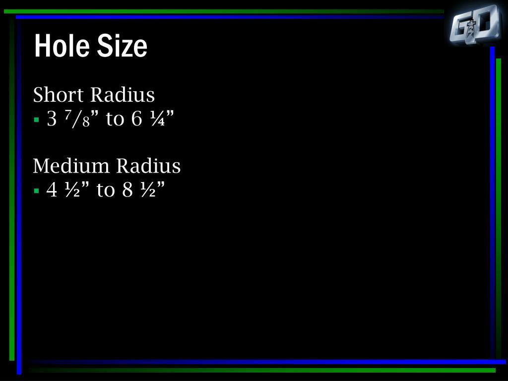 Hole Size