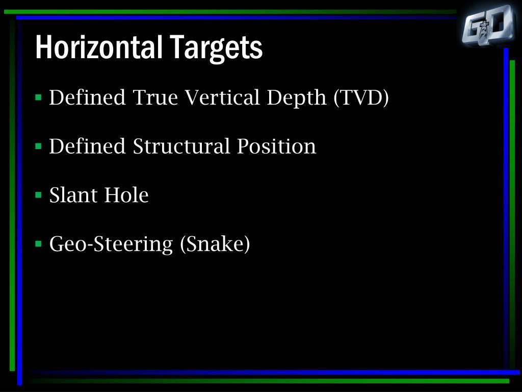 Horizontal Targets