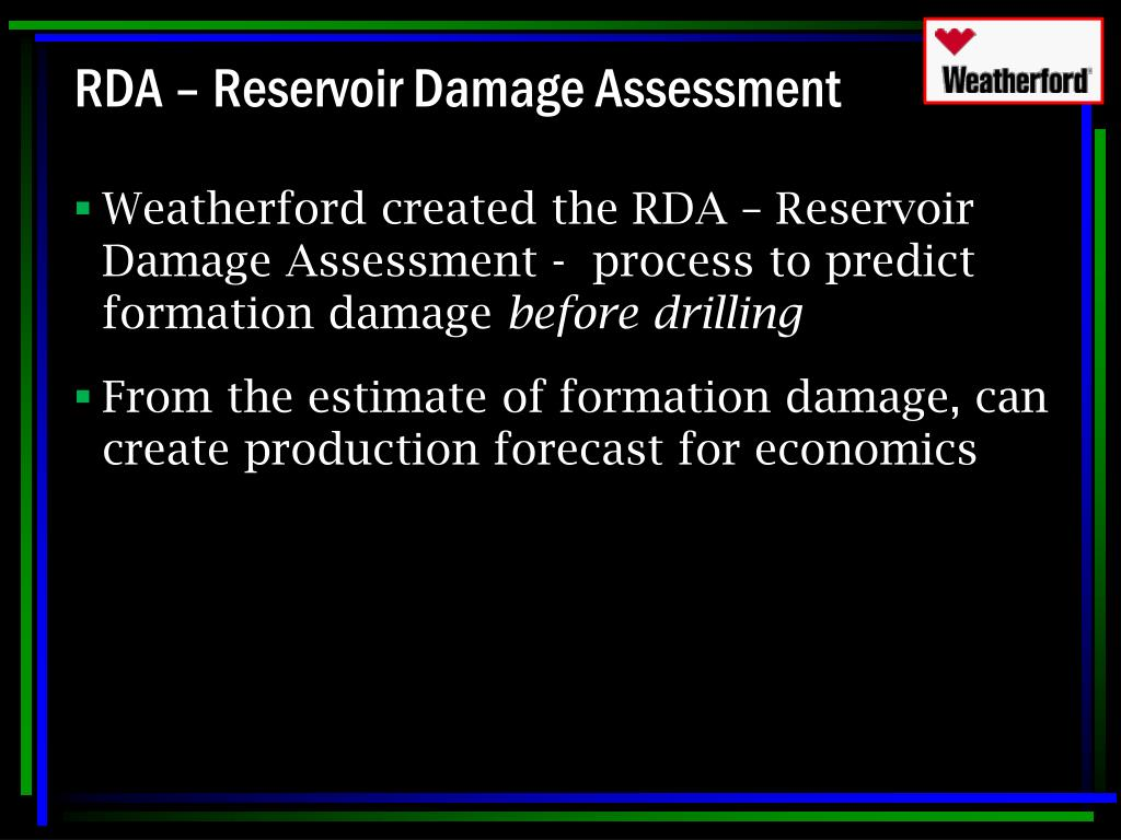 RDA – Reservoir Damage Assessment