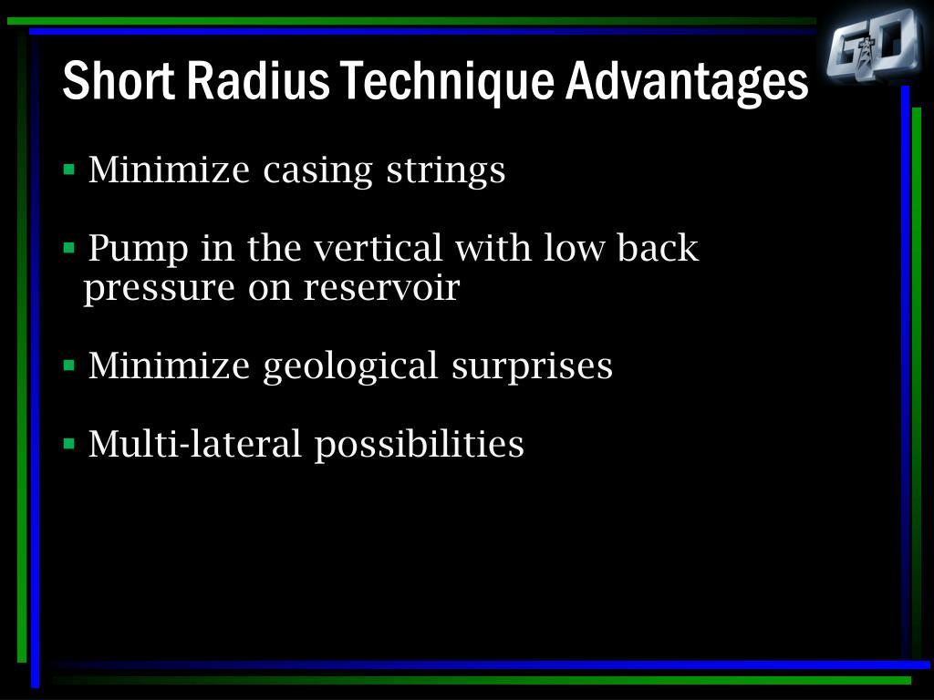 Short Radius Technique Advantages